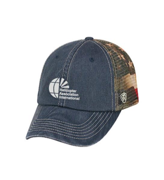 Washed Stars-n-Stripes Snap Back Trucker Hat