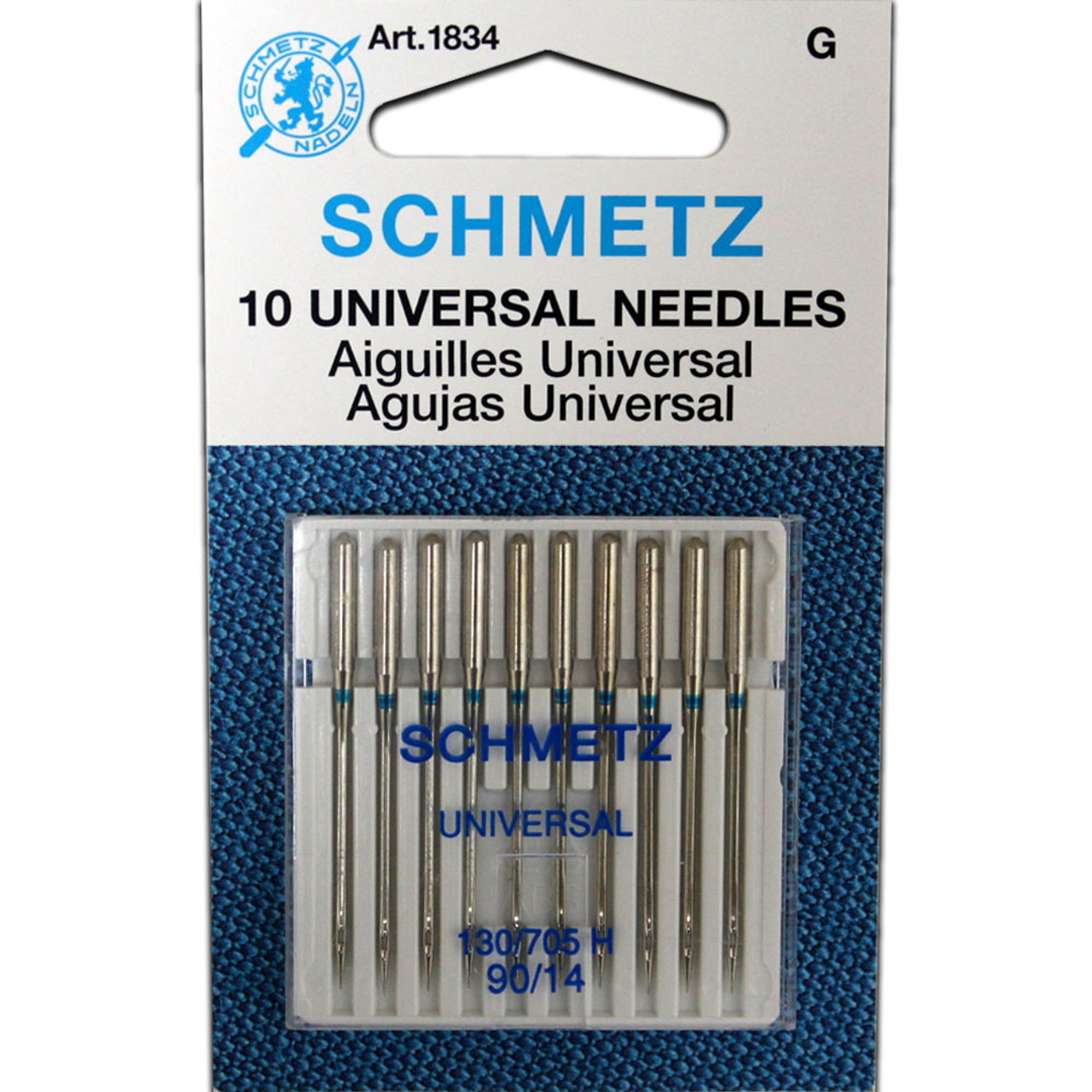 NEEDLES UNIVERSAL 130//705H Sizes 4-10s 4-12s 2-14s Husqvarna Viking Necchi Pfaff