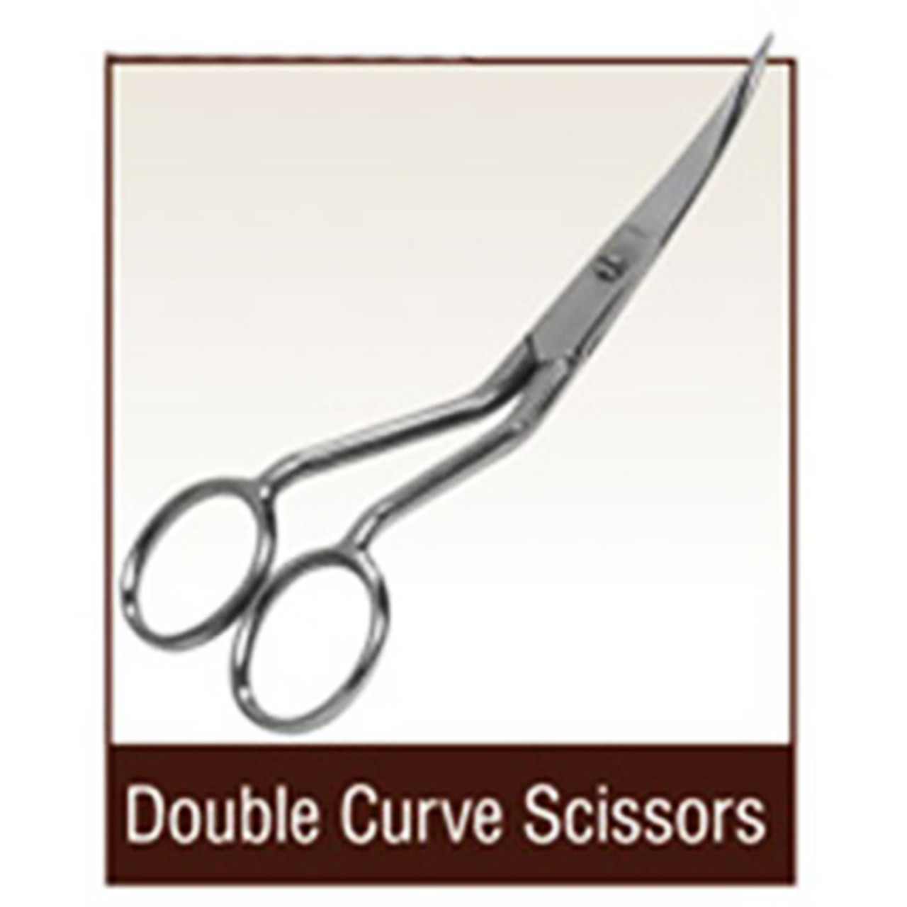 "Janome 6/"" Double Curved Machine Embroidery Scissors"