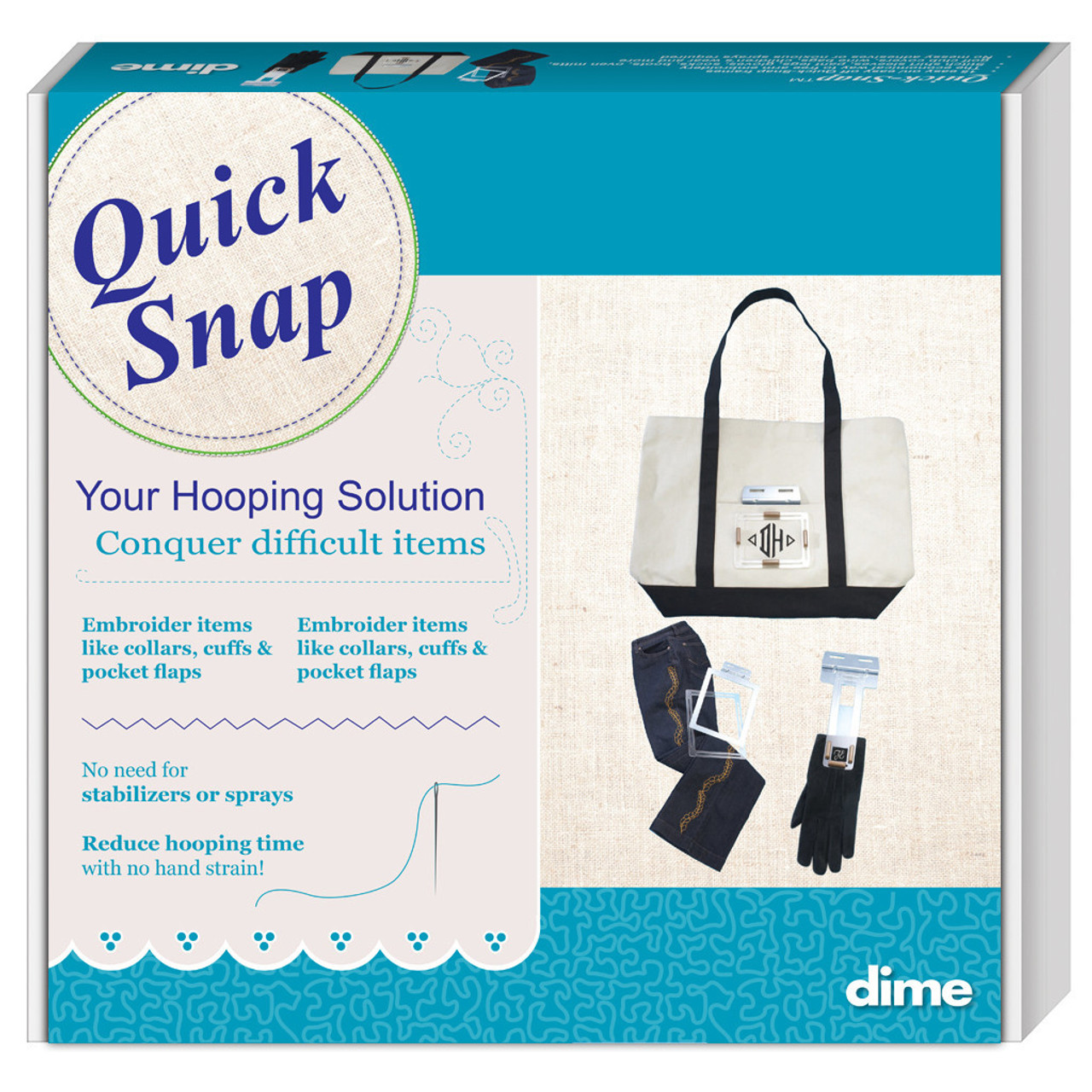 graphic relating to Printable Embroidery Placement Ruler titled Straightforward Snap Hooping Process for Janome, Elna Melco Multi Needle Products