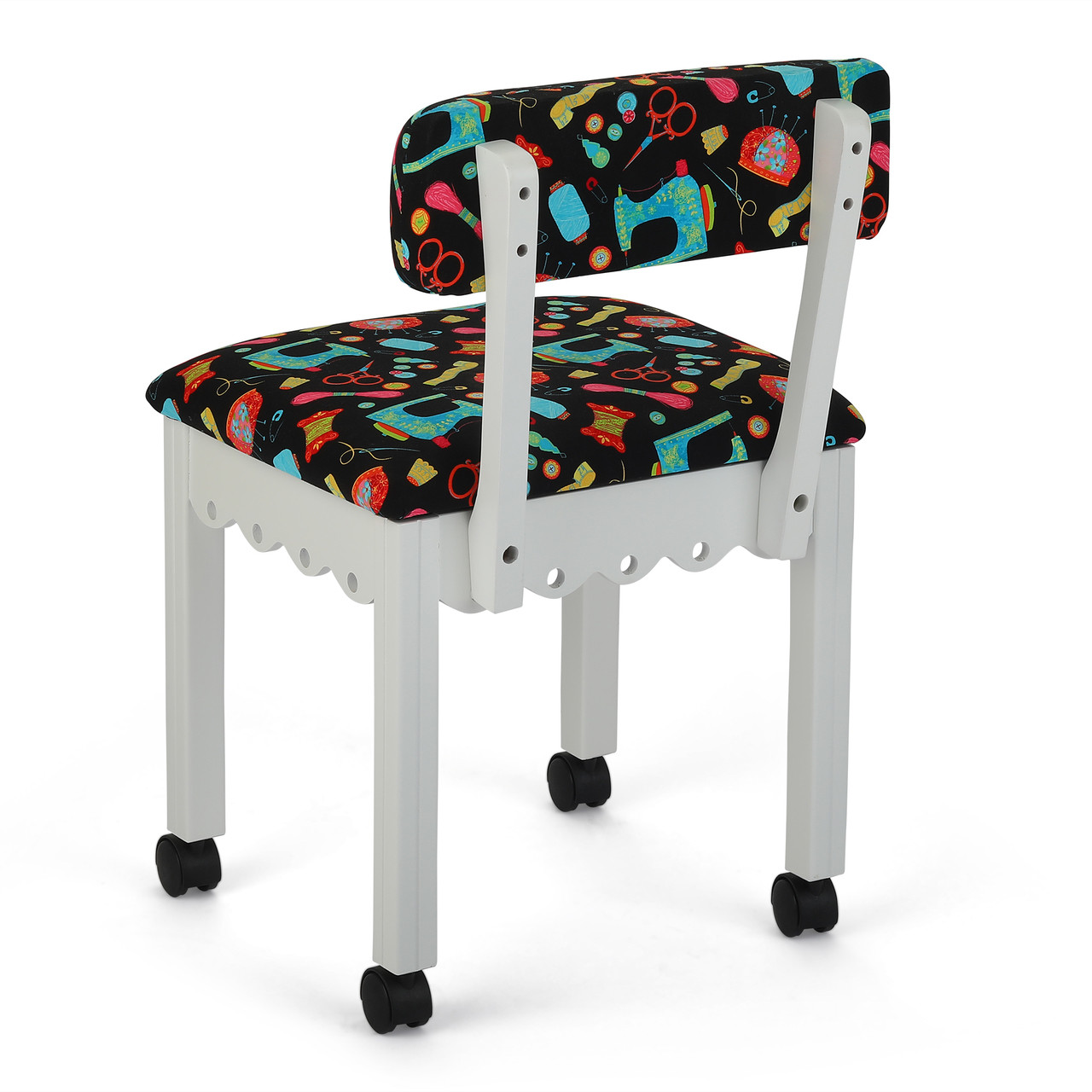 Groovy Arrow 7011B Chair In White And Riley Blake Black Upholstery Theyellowbook Wood Chair Design Ideas Theyellowbookinfo