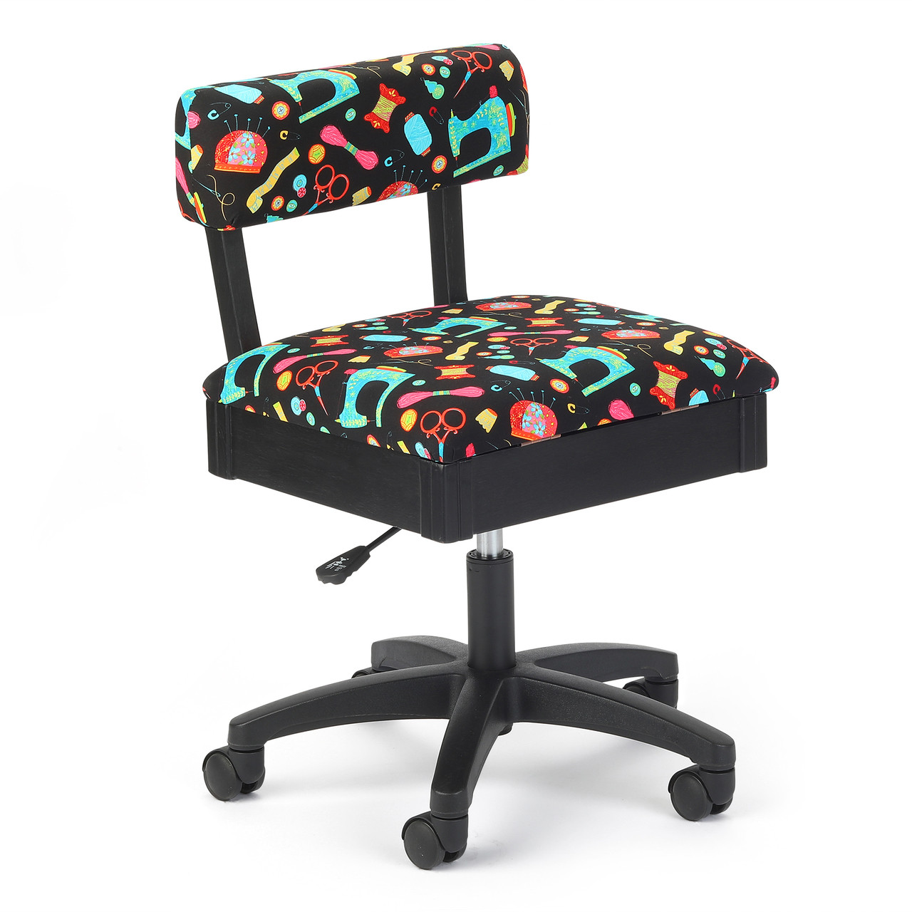 Awesome Arrow H7013B Hydraulic Chair In Riley Blake Black Upholstery Ncnpc Chair Design For Home Ncnpcorg