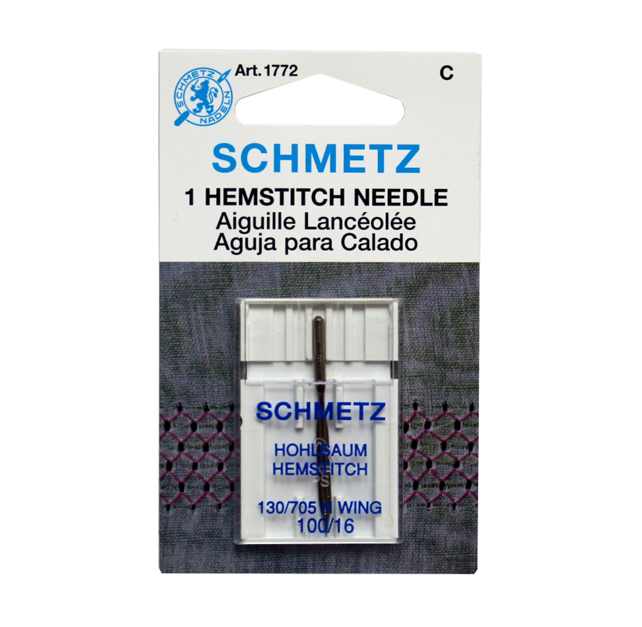 Swell Schmetz 1772 Hemstitch Wing Sewing Machine Needle Size 100 16 Home Interior And Landscaping Ologienasavecom
