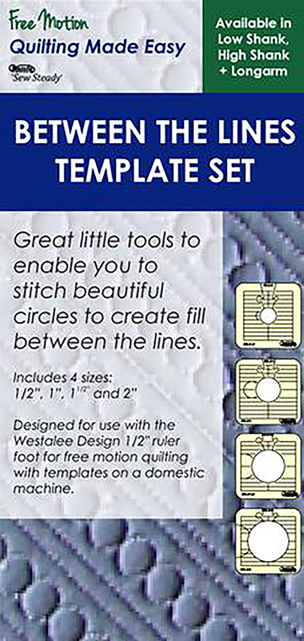 Sewing Templates Free Motion Template Set 6 Pieces Quilting Ruler Template
