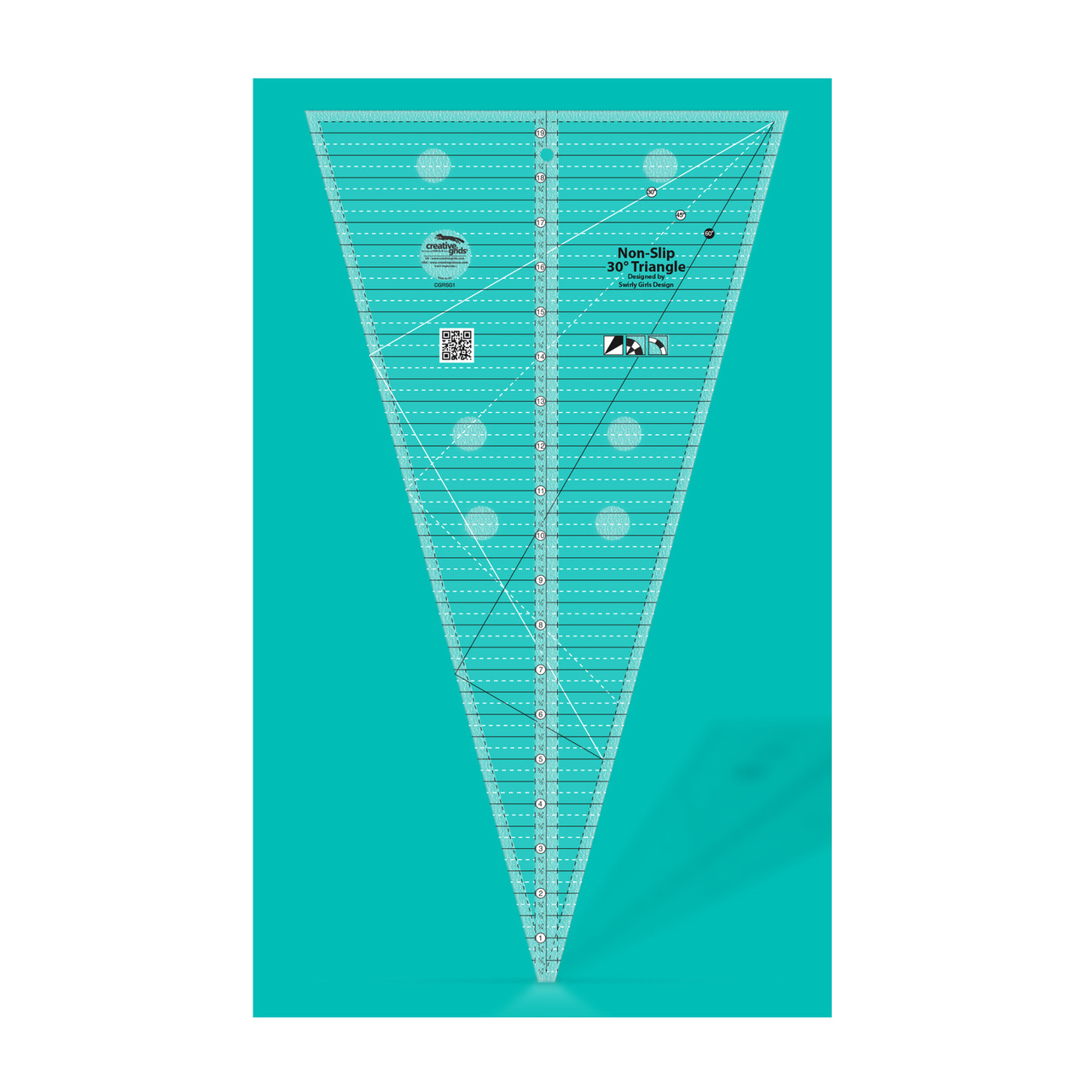 Sew Easy patchwork quilting Petal ruler template 45 degree