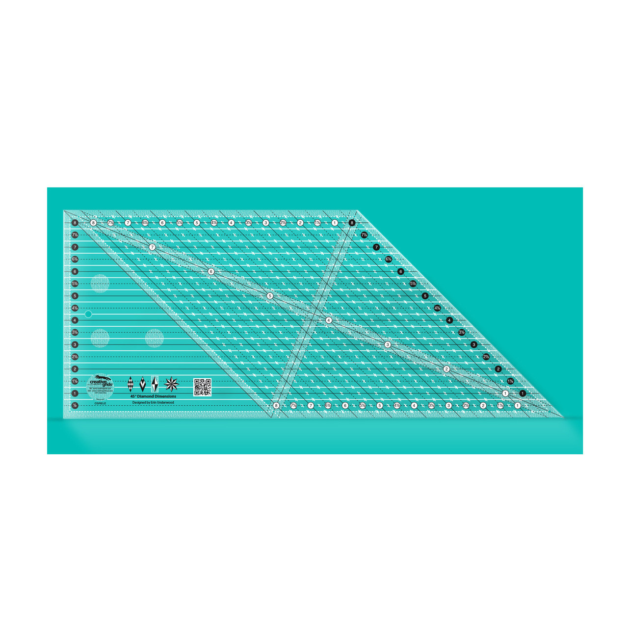 SEW EASY MULTI SIZE 45 DEGREE DIAMOND TEMPLATE PATCHWORK QUILTING RULER Bnew