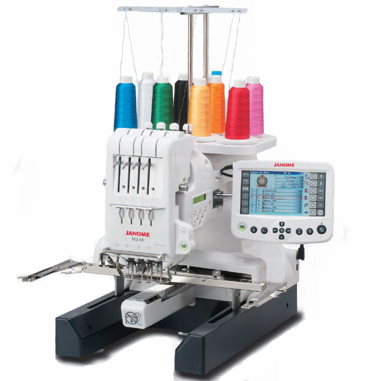Janome MB-4S Four Needle Embroidery Machine with Bonus Bundle
