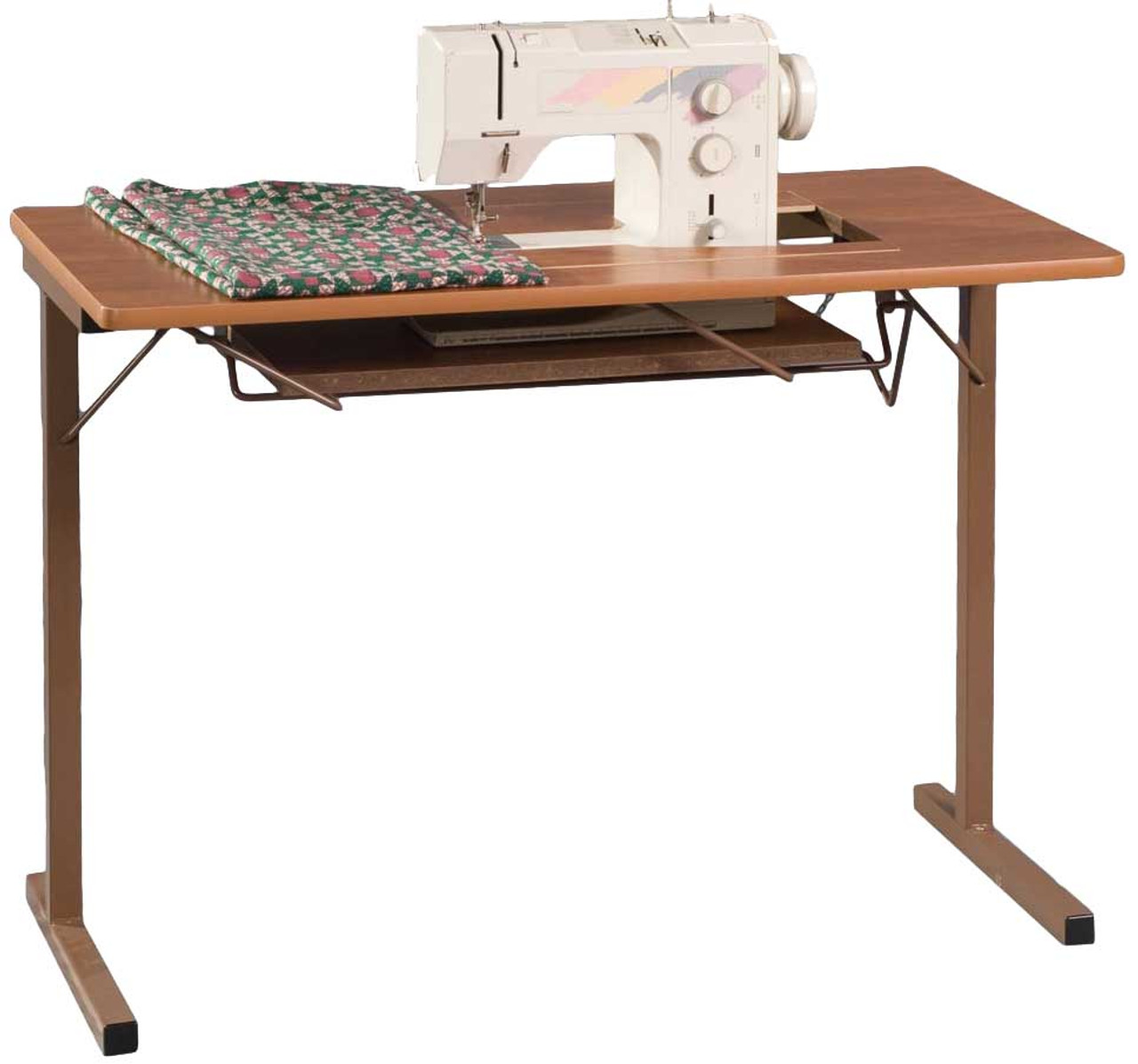 uk availability 8f9db efbf3 Fashion Sewing Cabinets 299 Foldable Sewing Machine Table Rustic Maple