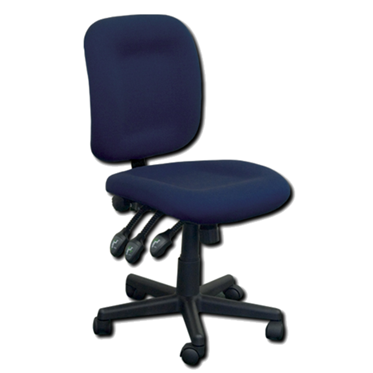 Horn Of America Sewing Chair 12090 Blue Upholstery With Black Base