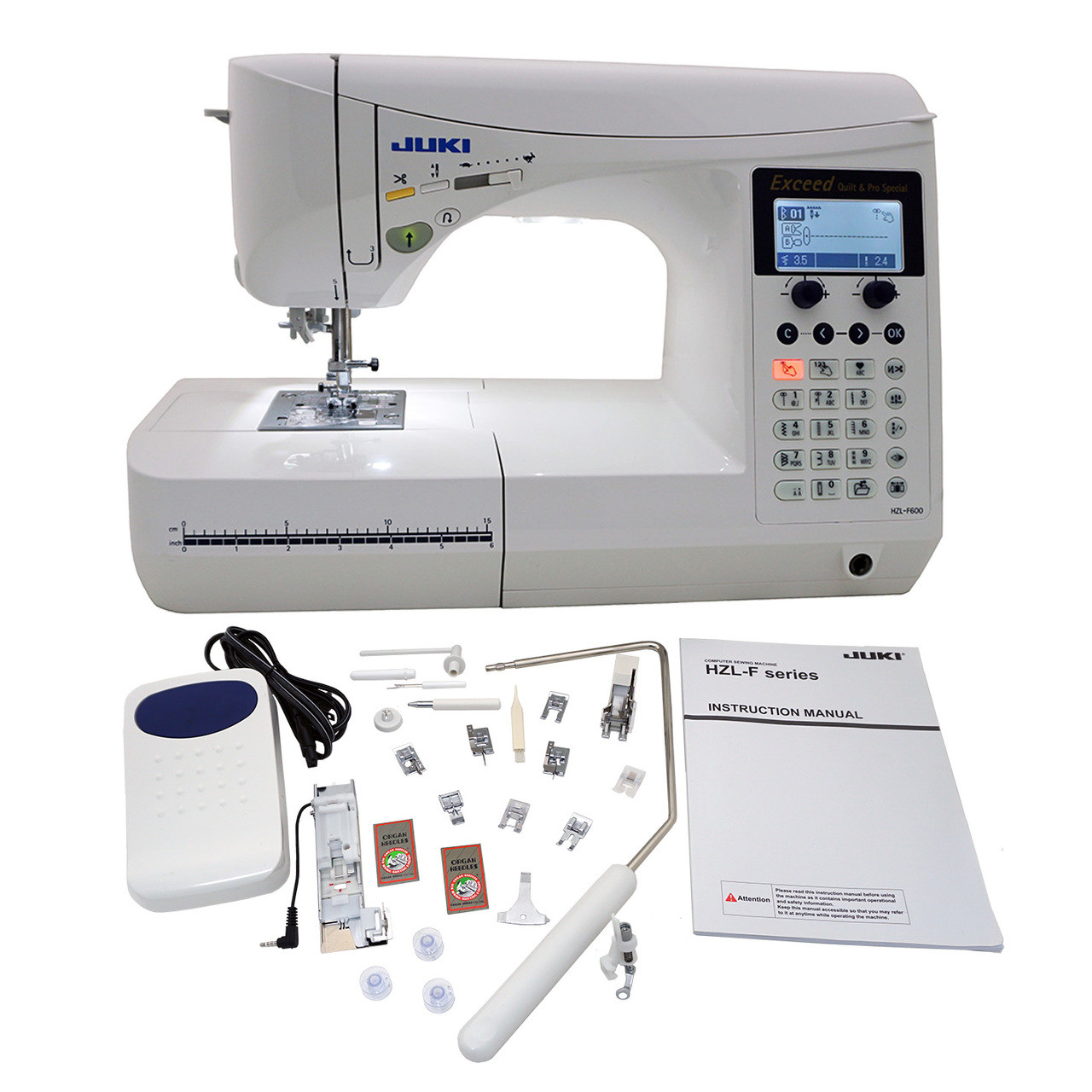 ... Juki Exceed HZL F600 Quilt Pro Special Computerized Sewing Machine