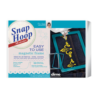 """Monster Snap Hoop 4"""" x 4"""" Fits Brother & Baby Lock Home embroidery Machines"""