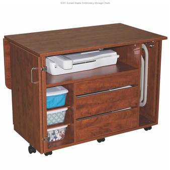 CLOSE OUT! Horn Model 63 Embroidery Storage Chest Available in Sunset and Sunrise Maple