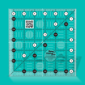 Creative Grids Quilt Ruler 6-1/2in Square