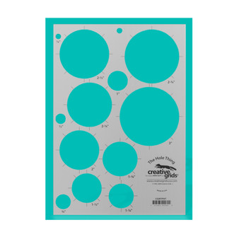 Creative Grids The Hole Thing Template Plastic Quilt Ruler