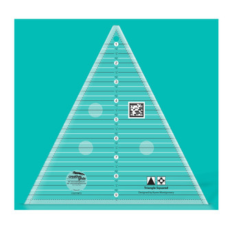 Creative Grids Triangle Squared Ruler 9-1/2in Quilt Ruler