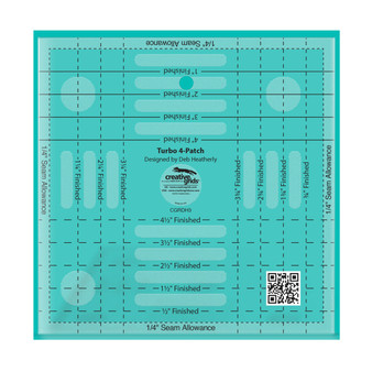 Creative Grids Turbo 4-Patch Template Quilt Ruler