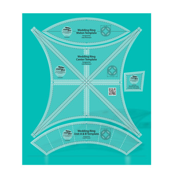 Creative Grids Double Wedding Ring Templates Quilt Ruler
