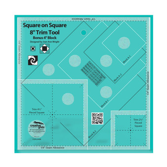 Creative Grids Square on Square Trim Tool - 4in or 8in Finished