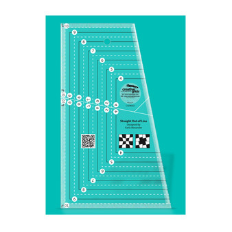 Creative Grids Straight Out of Line 6in x 10in Quilt Ruler