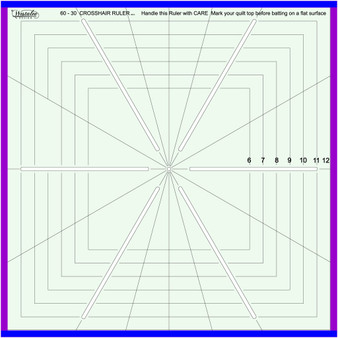 Sew Steady Westalee Design 12.5 Crosshair square 6-point Ruler