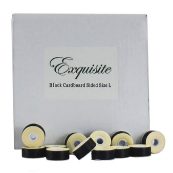 Dime Exquisite Black, Style L, Cardboard Sided Bobbins