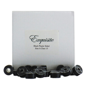 Dime Exquisite Black, Style A, Plastic Sided Bobbins