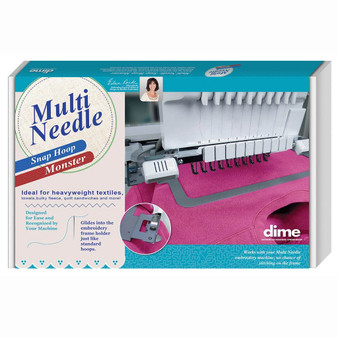 """dime Multi Needle Snap Hoop Monster 4"""" X 4"""" For Use With Baby Lock & Brother Machines"""
