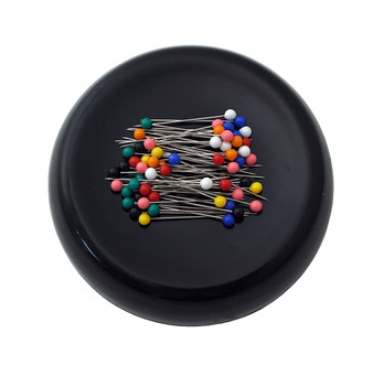 Grabbit Black Magnetic Pincushion With 50 Pins