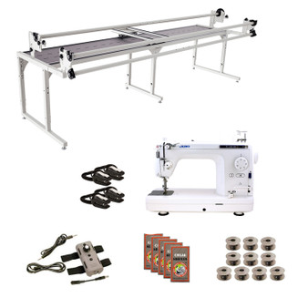 Juki TL2010Q Grace 10' Continuum II with Speed Control Machine Quilting Combo 5