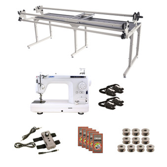 Juki TL2010Q Grace 8' Continuum II with Speed Control Machine Quilting Combo 6