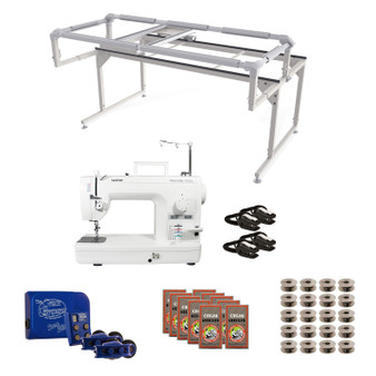 Brother PQ1500SL Grace Q-Zone Hoop Frame with Sure Stitch Machine Quilting Combo 4