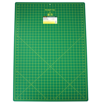 Omnigrid Cutting Mat - Green with Yellow Grid 24in x 36in