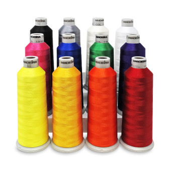Madeira #40 Weight Polyneon Thread Kit - 12 Pack, 5500yd