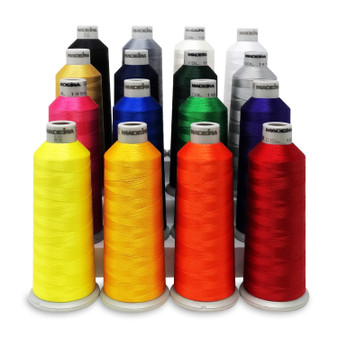 Madeira #40 Weight Polyneon Thread Kit - 16 Pack, 5500yd