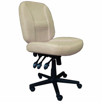 Horn of America 17090 Deluxe 6 Way Adjustable Chair in Beige with Black Base - 400 Lb Weight Limit