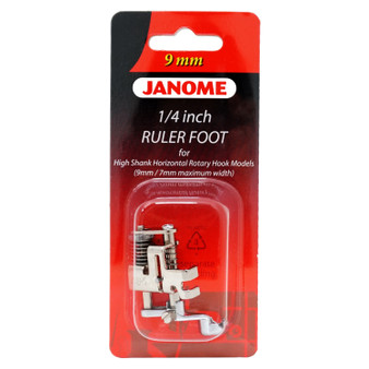 """Janome 1/4"""" Ruler foot for High-Shank Horizontal Rotary Hook Models (9 mm and 7mm width)"""