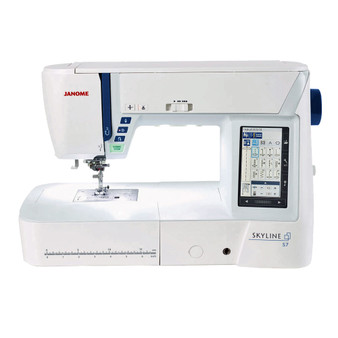 Janome Skyline S7 Indigo Computerized Sewing and Quilting Machine