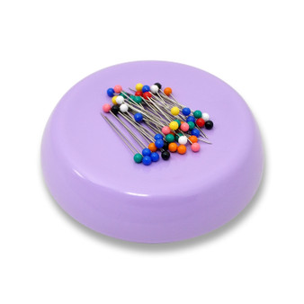 Grabbit Lavender Magnetic Pincushion With 50 Pins