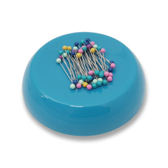 Grabbit Teal Magnetic Pincushion With 50 Pins