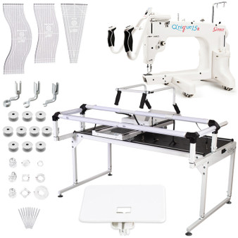 Grace Q'Nique 15R Midarm Quilting Machine with Hoop Frame Pro with Bonuspack