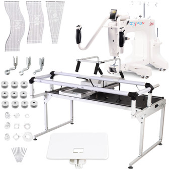 Grace Q'Nique 15M Midarm Quilting Machine with Hoop Frame Pro with Bonuspack