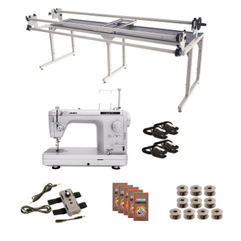 Juki TL2020PE Grace 8' Continuum II with Speed Control Machine Quilting Combo 6