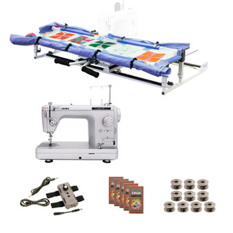 Juki TL2020PE Grace Cutie Frame with Speed Control Machine Quilting Combo 10