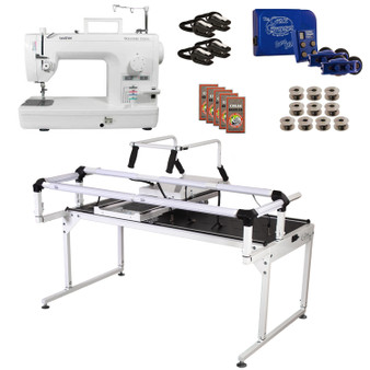 Brother PQ1500SL Grace Q-Zone Hoop Frame Pro with Sure Stitch Machine Quilting Combo 11