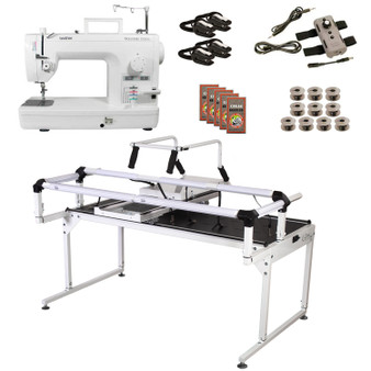Brother PQ1500SL Grace Q-Zone Hoop Frame Pro with Speed Control Machine Quilting Combo 12