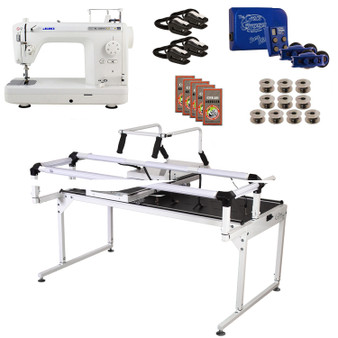 Juki TL2000Qi Grace Q-Zone Hoop Frame Pro with Speed Control Machine Quilting Combo 12