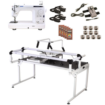 Juki TL2010Q Grace Q-Zone Hoop Frame Pro with Speed Control Machine Quilting Combo 12