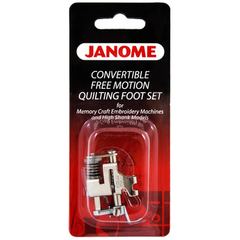 Janome Convertible Free Motion Quilt Foot Set for High Shank Models