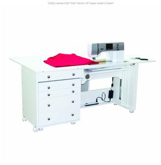 Horn of America Elite Model 5280 Super Quilter's Dream Plus Electric Lift Sewing Machine Cabinet