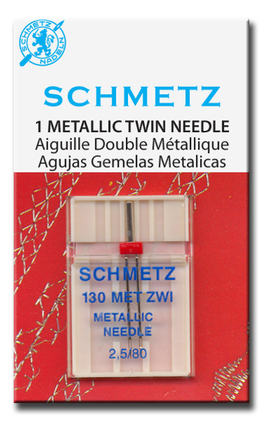Schmetz Metallic Twin Needle - Size 3.0/90